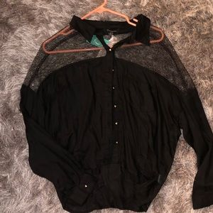 Black/gold blouse